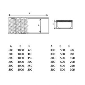 polimer hazır kanal 30 cm teknik çizim