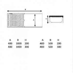 polimer beton kanal 40 cm teknik çizimn